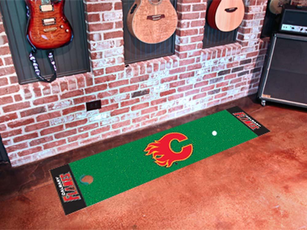"Calgary Flames 18"" x 72"" Golf Putting Green Mat"