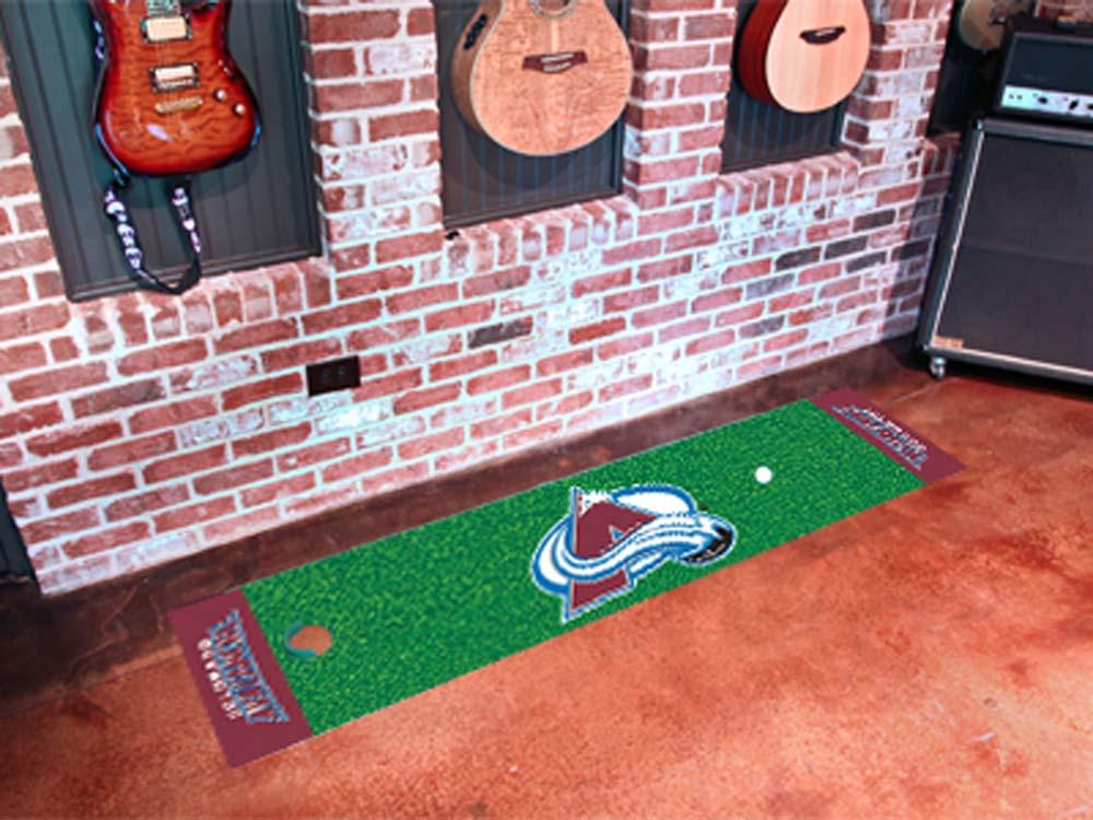 "Colorado Avalanche 18"" x 72"" Golf Putting Green Mat"