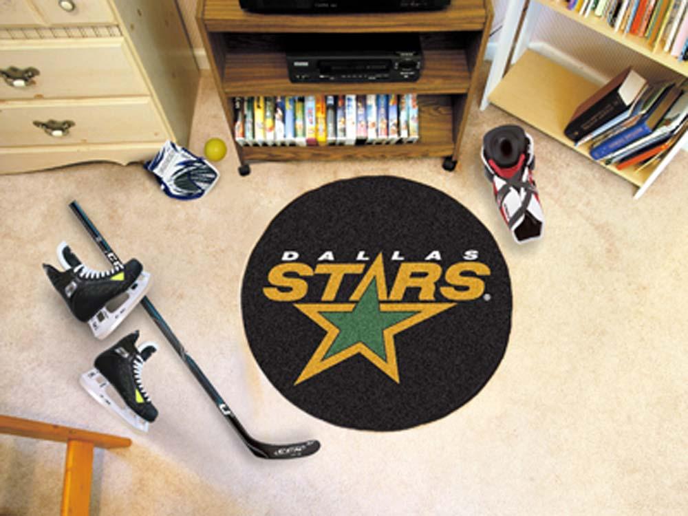 "Dallas Stars 27"" Round Puck Mat"