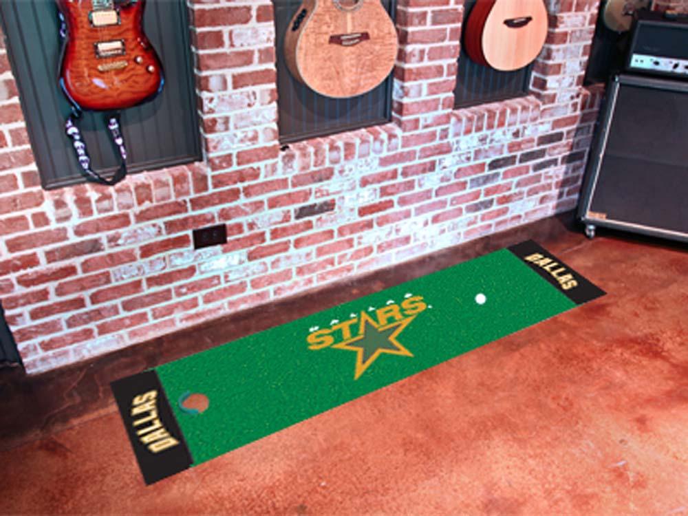 """Dallas Stars 18"""" x 72"""" Golf Putting Green Mat"""