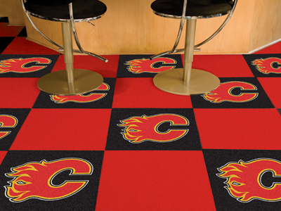 "Calgary Flames 18"" x 18"" Carpet Tiles (Box of 20)"