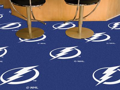 """Tampa Bay Lightning 18"""" x 18"""" Carpet Tiles (Box of 20)"""