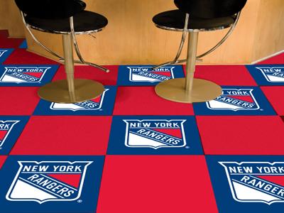 """New York Rangers 18"""" x 18"""" Carpet Tiles (Box of 20)"""