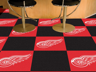 "Detroit Red Wings 18"" x 18"" Carpet Tiles (Box of 20)"