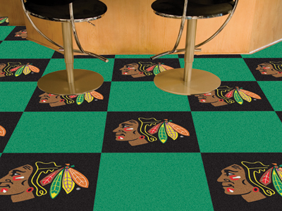 """Chicago Blackhawks 18"""" x 18"""" Carpet Tiles (Box of 20)"""