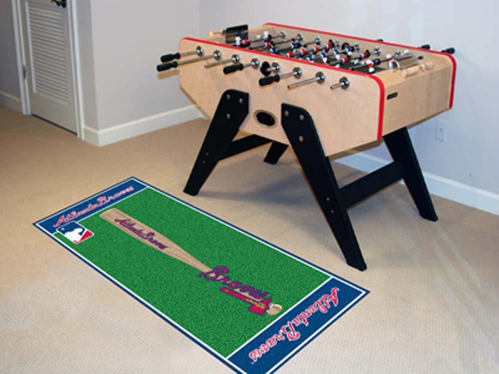 Atlanta Braves 30in x 72in Baseball Runner