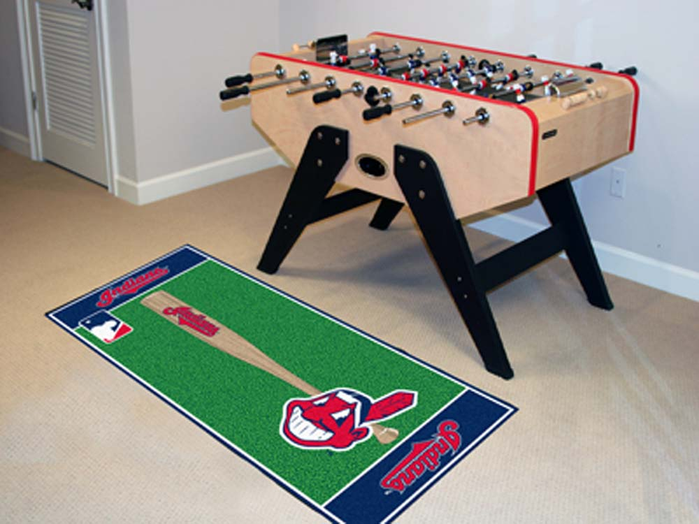 Cleveland Indians 30in x 72in Baseball Runner