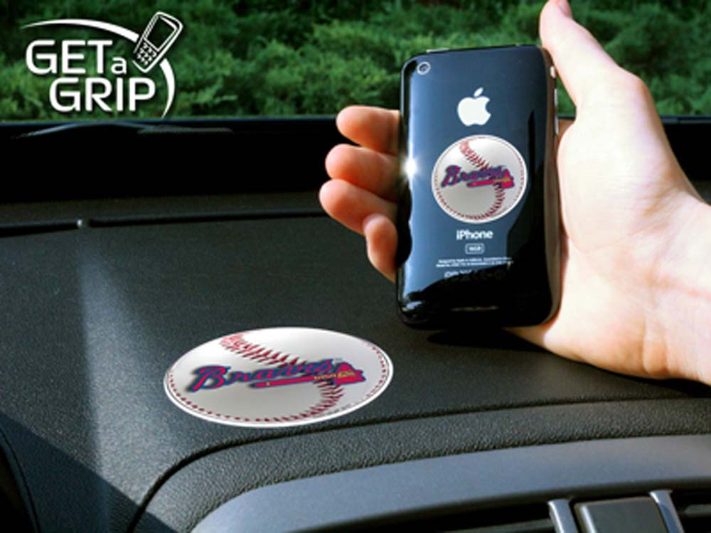 Atlanta Braves 'Get a Grip' Cell Phone Holder (Set of 2)