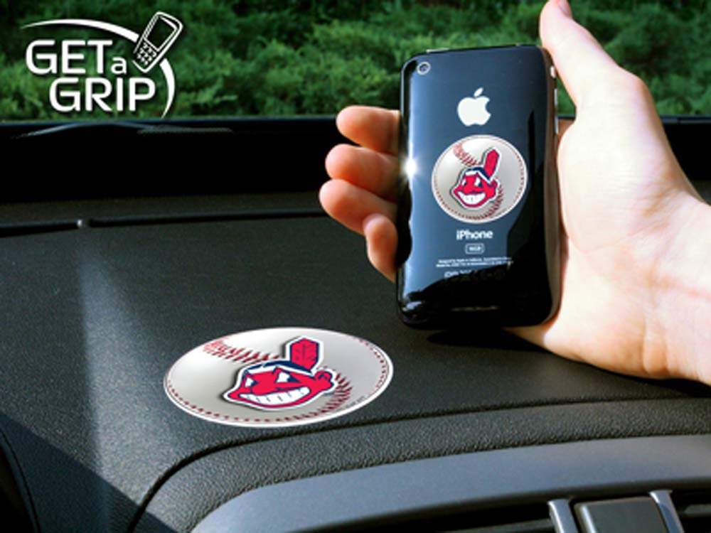 Cleveland Indians 'Get a Grip' Cell Phone Holder (Set of 2)