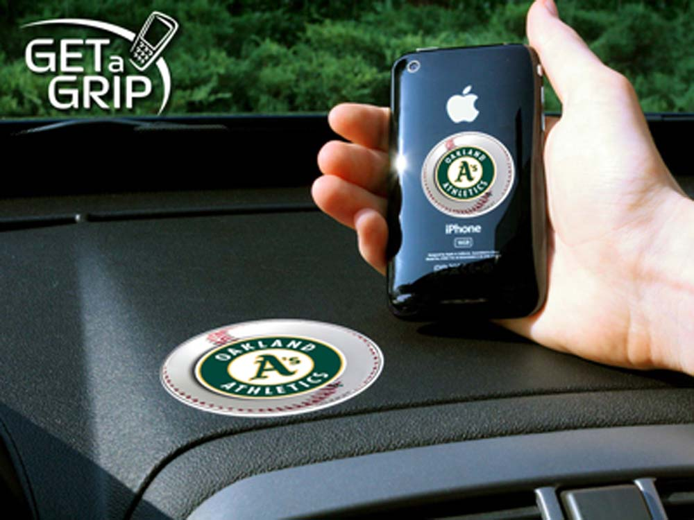Oakland Athletics 'Get a Grip' Cell Phone Holder (Set of 2)