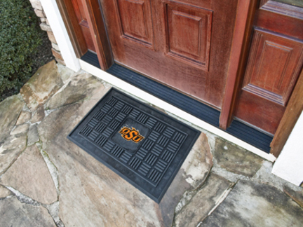 Oklahoma State Cowboys 19in x 30in Medallion Door Mat