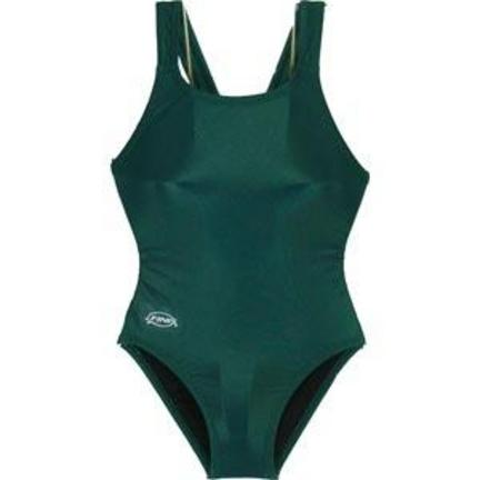 Solid Green Women's Bladeback Swimsuit (Size 30)