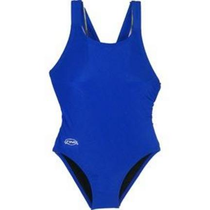 Solid Royal Women's Bladeback Swimsuit (Size 40)