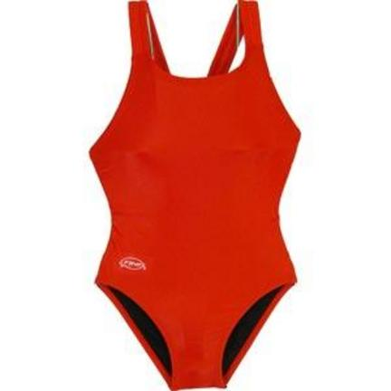Solid Red Junior Women's Bladeback Swimsuit (Size 24)