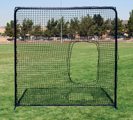 Square Protective Screen with Softball Pitcher's Net