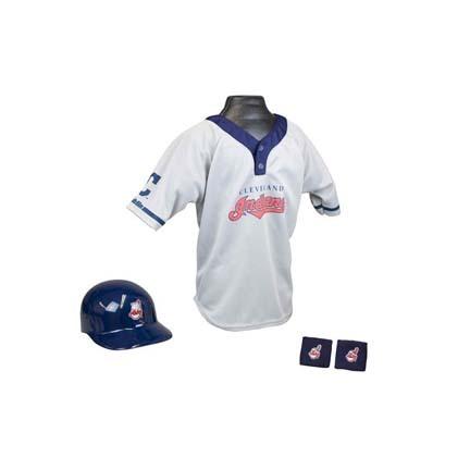 Franklin Cleveland Indians MLB Kid's Team Baseball Uniform Set (Ages 5 - 9)