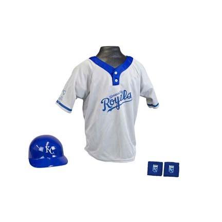 Franklin Kansas City Royals MLB Kid's Team Baseball Uniform Set (Ages 5 - 9)
