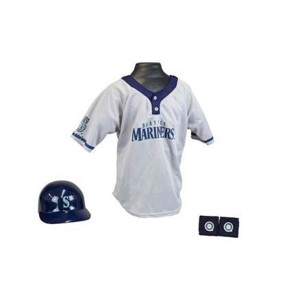 Franklin Seattle Mariners MLB Kid's Team Baseball Uniform Set (Ages 5 - 9)