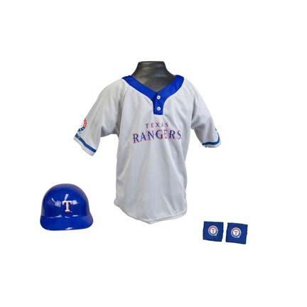Franklin Texas Rangers MLB Kid's Team Baseball Uniform Set (Ages 5 - 9)