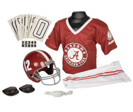 Franklin Alabama Crimson Tide DELUXE Youth Helmet and Football Uniform Set (Small)
