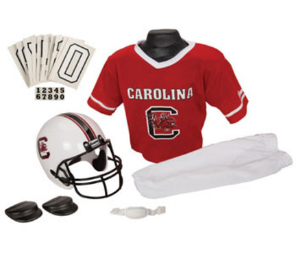 Franklin South Carolina Gamecocks DELUXE Youth Helmet and Football Uniform Set (Small)
