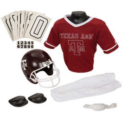 Franklin Texas A & M Aggies DELUXE Youth Helmet and Football Uniform Set (Small)