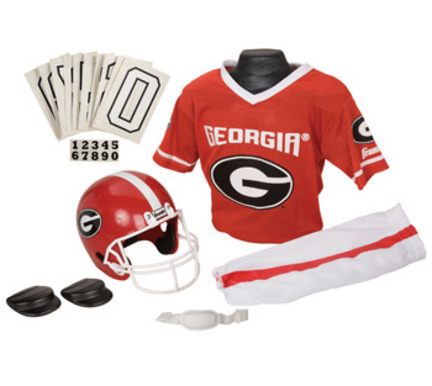 Franklin Georgia Bulldogs DELUXE Youth Helmet and Football Uniform Set (Medium)
