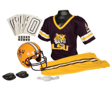 Franklin Louisiana State (LSU) Tigers DELUXE Youth Helmet and Football Uniform Set (Medium)