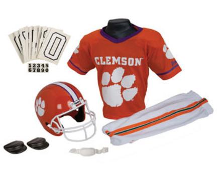 Franklin Clemson Tigers DELUXE Youth Helmet and Football Uniform Set (Medium)