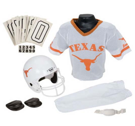 Franklin Texas Longhorns DELUXE Youth Helmet and Football Uniform Set (Medium)