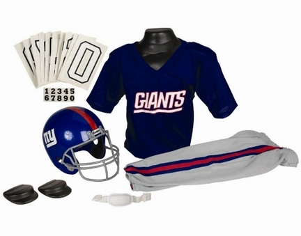 Franklin New York Giants DELUXE Youth Helmet and Football Uniform Set (Small)