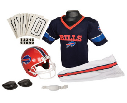 Franklin Buffalo Bills DELUXE Youth Helmet and Football Uniform Set (Small) FR-15700F15