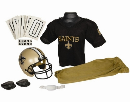 Franklin New Orleans Saints DELUXE Youth Helmet and Football Uniform Set (Medium)