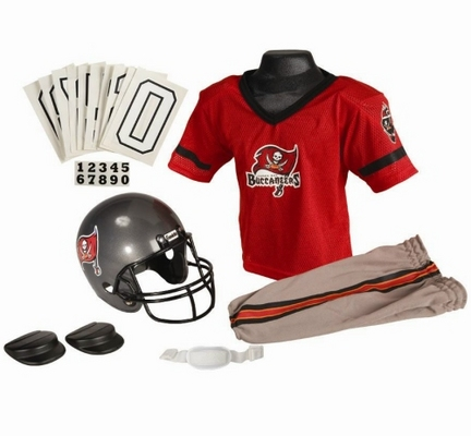 Franklin Tampa Bay Buccaneers DELUXE Youth Helmet and Football Uniform Set (Medium)