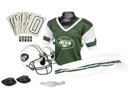 Franklin New York Jets DELUXE Youth Helmet and Football Uniform Set (Medium)