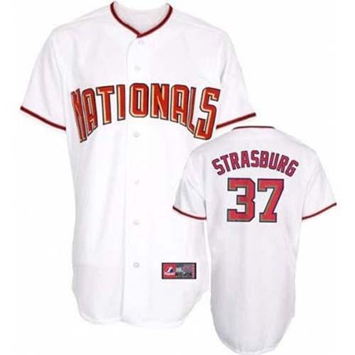 Stephen Strasburg Washington Nationals #37 Replica Majestic Athletic MLB Baseball Jersey (White)