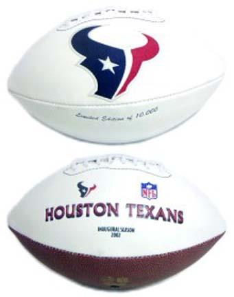 Houston Texans Limited Edition Embroidered Signature Series Football from Fotoball