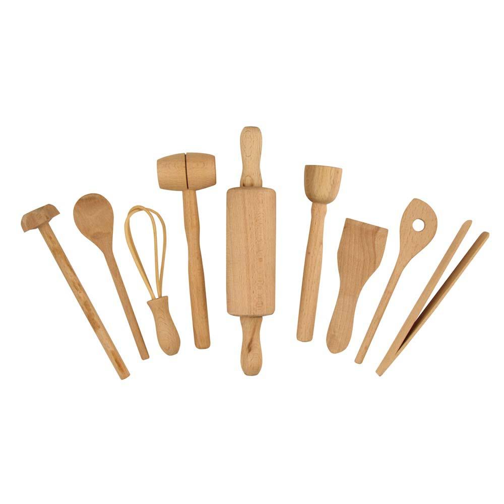 Fox Run Brands™ 9-Piece Kids Wooden Cooking Set
