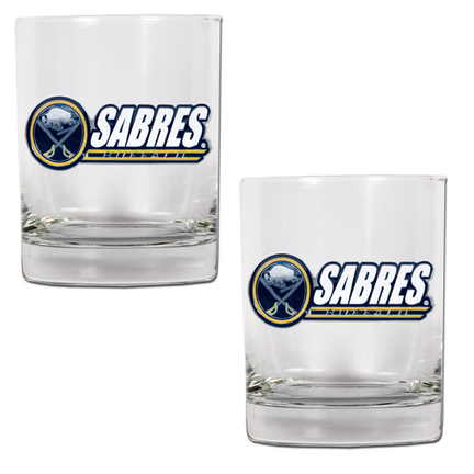 "Buffalo Sabres 2 Piece Rocks Glass Set (with """"Sabres"""")"" GAP-GDRGDR002-14"
