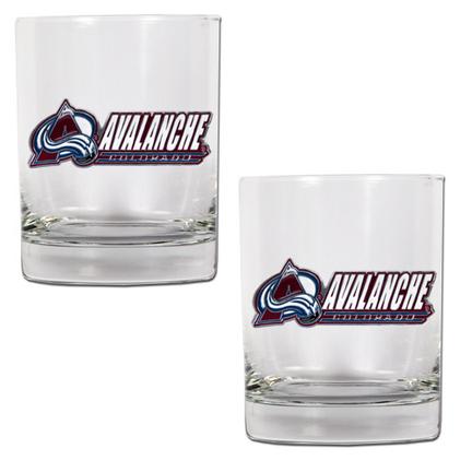 "Colorado Avalanche 2 Piece Rocks Glass Set (with """"Avalanche"""")"" GAP-GDRGDR030-14"