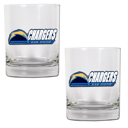 """San Diego Chargers 2 Piece Rocks Glass Set (with """"""""Chargers"""""""")"""" GAP-GDRGDR2024-14"""