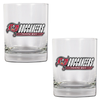 "Tampa Bay Buccaneers 2 Piece Rocks Glass Set (with """"Buccaneers"""")"" GAP-GDRGDR2027-14"