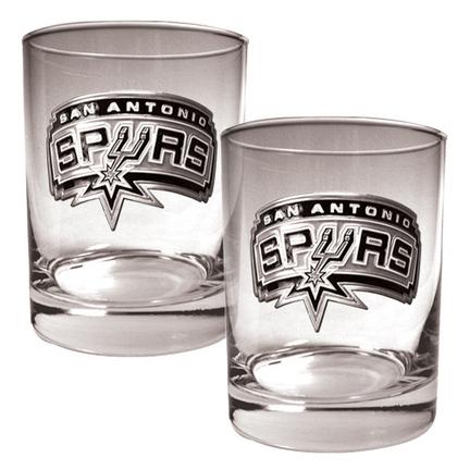 San Antonio Spurs 2 Piece Rocks Glass Set