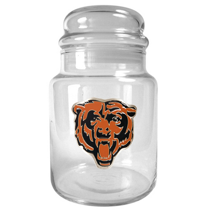 Image of Chicago Bears 31 oz Glass Candy Jar