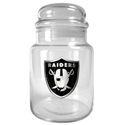 Image of Oakland Raiders 31 oz Glass Candy Jar