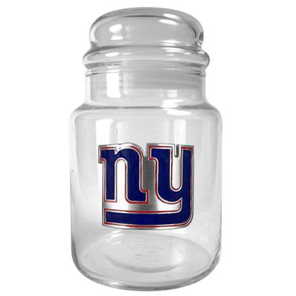Image of New York Giants 31 oz Glass Candy Jar