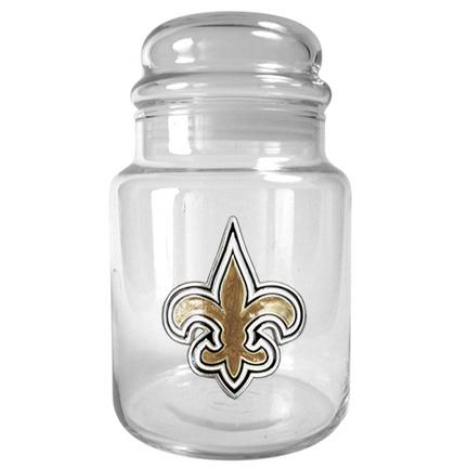 Image of New Orleans Saints 31 oz Glass Candy Jar