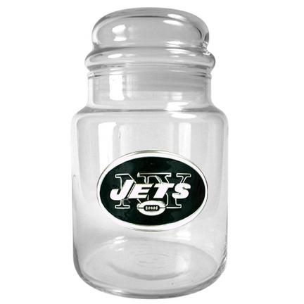 Image of New York Jets 31 oz Glass Candy Jar