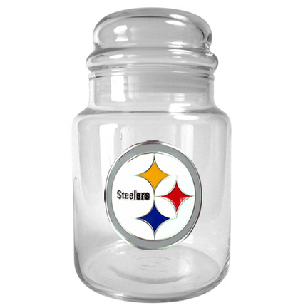 Image of Pittsburgh Steelers 31 oz Glass Candy Jar