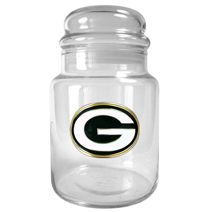 Image of Green Bay Packers 31 oz Glass Candy Jar